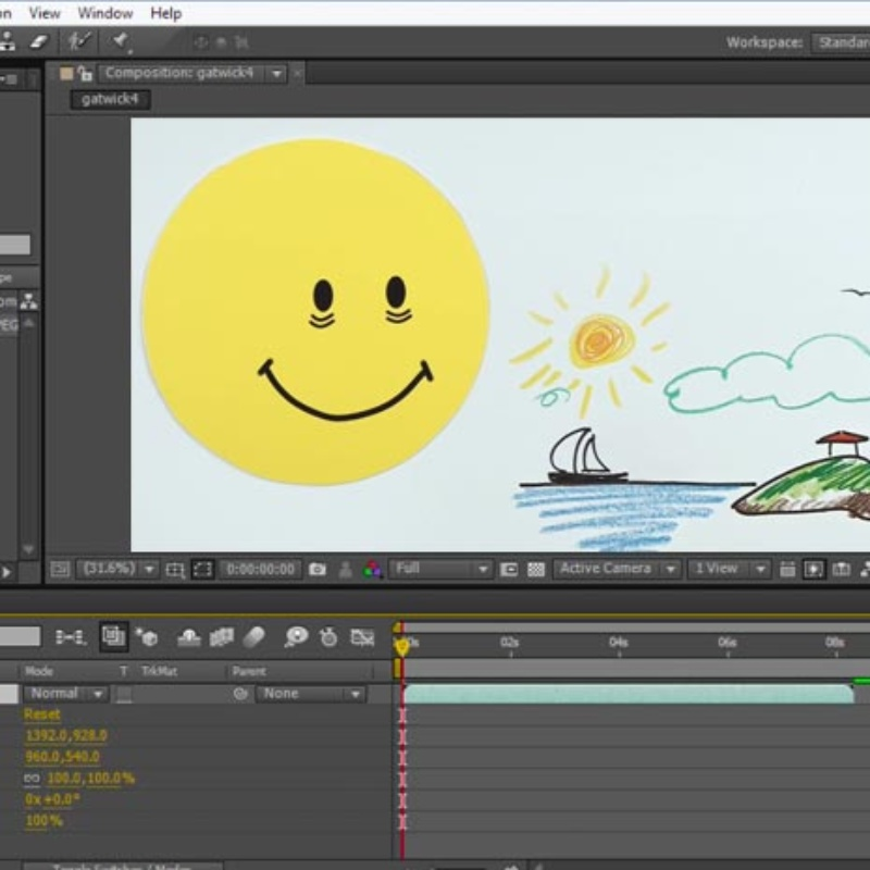 Video animation in 2D and 3D